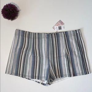 Chelsea & Violet Striped Cotton Shorts New Size 30